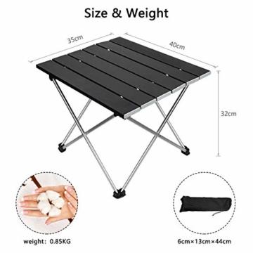 Linkax Tragbar Klapptisch Aluminium Campingtisch mit Tragetasche, Maximale Belastung 30 kg für Camping Picknick, Strand, Garten Grill - 7