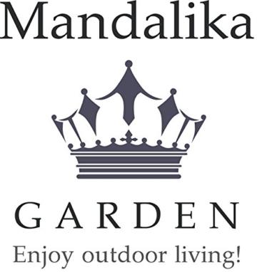 Mandalika Garden Hochwertiger Edelstahl Plattenständer in anthrazit inklusive Reduzierringe Set bis 48 mm Rohrdurchmesser - 3