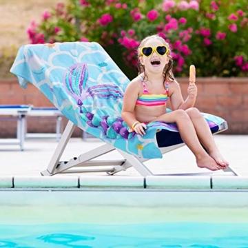 Meerjungfrau Strandtücher - 70 x 147 cm Duschtücher Handtücher für Kinder 100% Baumwolle Frottie Weiches Absorptionsmittel Schwimmen Pool Handtuch Badetuch Camping Picknick Reisetuch Saunatuch - 7