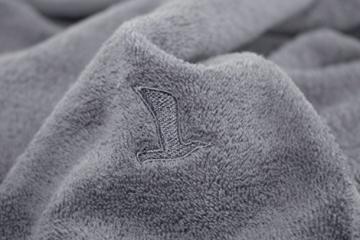 MÖVE Superwuschel Handtuch-Set, 3 Handtücher 50 x 100 cm, Made in Germany, 100% Baumwolle, stone - 3