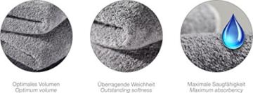 MÖVE Superwuschel Handtuch-Set, 3 Handtücher 50 x 100 cm, Made in Germany, 100% Baumwolle, stone - 4