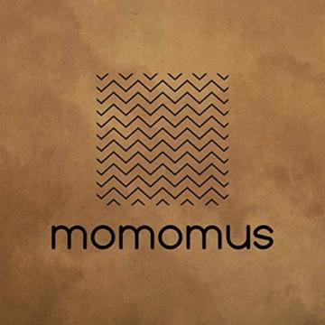 MOMOMUS Wandteppich Mandala -Ethnisch-100% Baumwolle, Groß, Mehrzweck - Wandtuch, Strandtuch XXL, Pareo Tuch - Bettüberwurf/Sofaüberwurf & Überwurf für Sofa/Couch, Bett - 210x230 cm, Orange Blau - 6