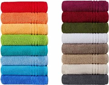 Naturawalk Handtücher Serie Milano Bio-Baumwolle in Luxusqualität, in 7 Größen und 16 Trendfarben - Grösse Handtuch 50x100 cm, Farbe Orange 316 - 1