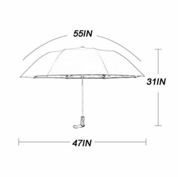 NBVCX Lebensdekoration Automatischer Regenschirm Geschäftsregen Dualuse Großer Kreativer Regenschirm Super Großer Doppel-Sonnenschirm Faltschirm - 6