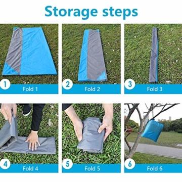 NC Stranddecke wasserdichte Picknickdecke mit 4 Zeltstöpsel, Sandabweisende Campingdecke für den Strand, Campen, Wandern - 3