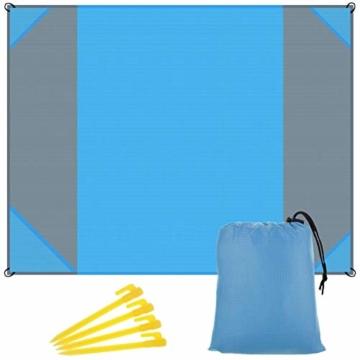 NC Stranddecke wasserdichte Picknickdecke mit 4 Zeltstöpsel, Sandabweisende Campingdecke für den Strand, Campen, Wandern - 1