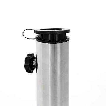 Nexos ZGZ35808 Sonnenschirmständer Granit Matt-Schwarz eckig mit Griff Rollen Reduzierhülsen, Edelstahlrohr poliert 45 x 45 cm 30 kg Für Schirme bis 3 m - 3