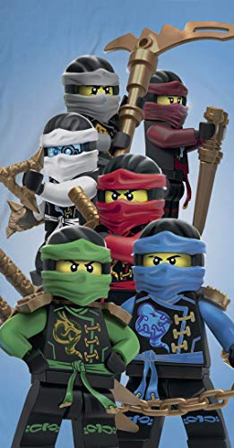 Ninjago Lego Strandtuch Velourstuch 70 x 140cm Duschtuch Badetuch Handtuch 100% Baumwolle Lloyd Kai Zane Cole NYA Jay Assemble - 4