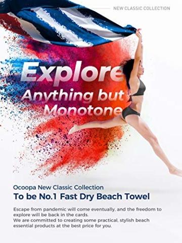 OCOOPA Mikrofaser Strandtuch, schnell trocknend, groß 180x86 cm, extra groß 210x145 cm, super saugfähig, Sandfreie Strand- und Schwimmhandtücher für Männer und Frauen - 3