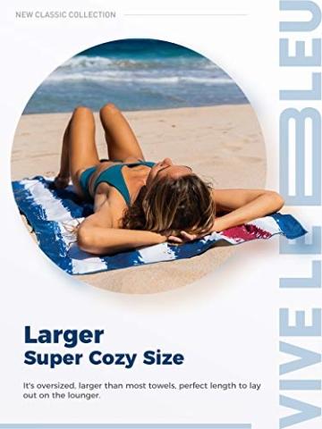 OCOOPA Mikrofaser Strandtuch, schnell trocknend, groß 180x86 cm, extra groß 210x145 cm, super saugfähig, Sandfreie Strand- und Schwimmhandtücher für Männer und Frauen - 4