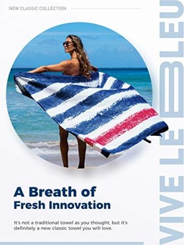 OCOOPA Mikrofaser Strandtuch, schnell trocknend, groß 180x86 cm, extra groß 210x145 cm, super saugfähig, Sandfreie Strand- und Schwimmhandtücher für Männer und Frauen - 9