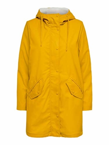 ONLY Female Regenjacke Langer MGolden Yellow - 1