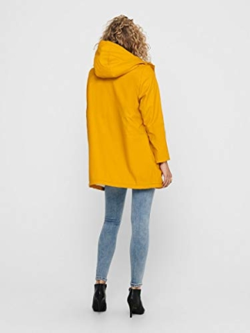 ONLY Female Regenjacke Langer MGolden Yellow - 2