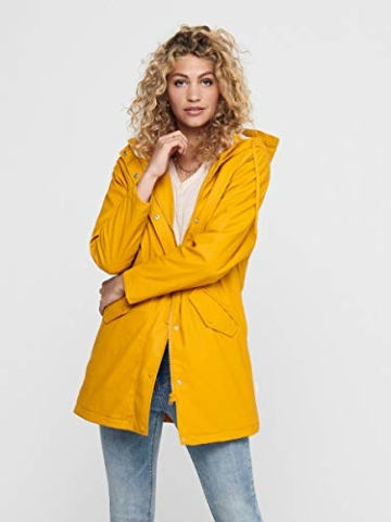 ONLY Female Regenjacke Langer MGolden Yellow - 3