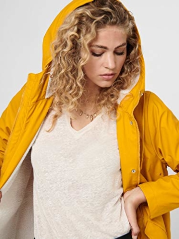 ONLY Female Regenjacke Langer MGolden Yellow - 5
