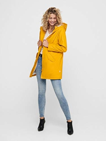 ONLY Female Regenjacke Langer MGolden Yellow - 6