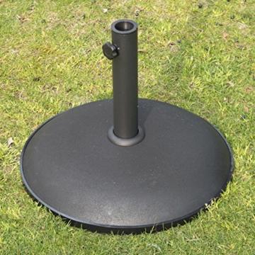 Outsunny Schirmständer Sonnenschirmständer Sonnenschirmfuß 25kg Stahl + Zement Schwarz ∅50 x 37 cm - 4