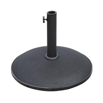 Outsunny Schirmständer Sonnenschirmständer Sonnenschirmfuß 25kg Stahl + Zement Schwarz ∅50 x 37 cm - 1
