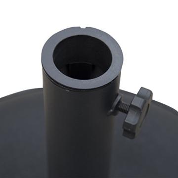 Outsunny Schirmständer Sonnenschirmständer Sonnenschirmfuß 25kg Stahl + Zement Schwarz ∅50 x 37 cm - 5