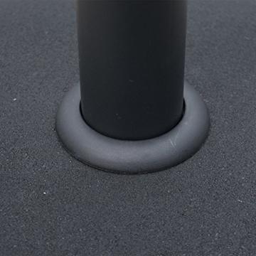 Outsunny Schirmständer Sonnenschirmständer Sonnenschirmfuß 25kg Stahl + Zement Schwarz ∅50 x 37 cm - 6