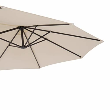 Outsunny Sonnenschirm Gartenschirm Marktschirm Doppelsonnenschirm Terrassenschirm mit Handkurbel Beige Oval 460 x 270 x 240 cm - 7