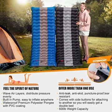 Overmont Camping Isomatte 12cm Dick für Camping Wanderungen Backpacking Reisen Zelte Strand Schwarz - 4