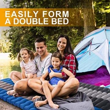 Overmont Camping Isomatte 12cm Dick für Camping Wanderungen Backpacking Reisen Zelte Strand Schwarz - 5