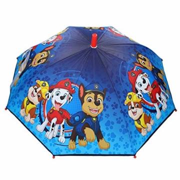 Paw Patrol Kinder Regenschirm Stockschirm, ∅ 72 cm, blau - 3