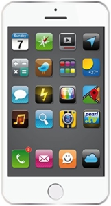 PEARL Strandtuch: Badetuch im weißen Smartphone-Design, 170 x 100 cm (Strandlaken) - 1