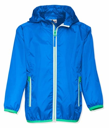 Playshoes Unisex Kinder Faltbare Funktions-Jacke Regenjacke, Blau 7, 104 - 1