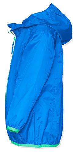 Playshoes Unisex Kinder Faltbare Funktions-Jacke Regenjacke, Blau 7, 104 - 4