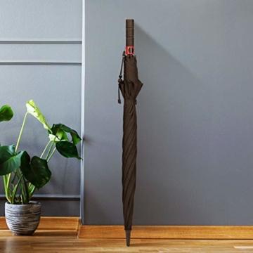 Plemo Regenschirm, Hochwertiger Stylischer Stockschirm Golfschirm Partnerschirm für Zwei, 120 cm Durchmesser, Wasserabweisend - 4