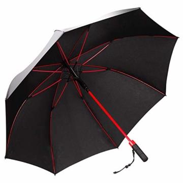 Plemo Regenschirm, Hochwertiger Stylischer Stockschirm Golfschirm Partnerschirm für Zwei, 120 cm Durchmesser, Wasserabweisend - 1