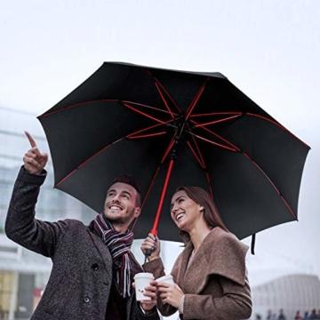 Plemo Regenschirm, Hochwertiger Stylischer Stockschirm Golfschirm Partnerschirm für Zwei, 120 cm Durchmesser, Wasserabweisend - 7