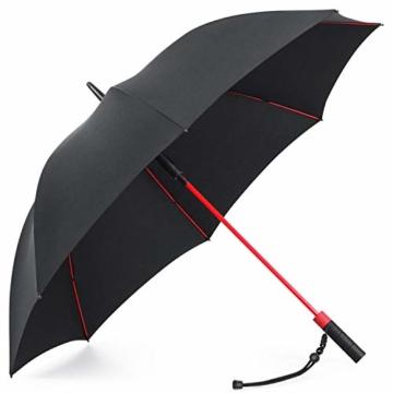 Plemo Regenschirm, Hochwertiger Stylischer Stockschirm Golfschirm Partnerschirm für Zwei, 120 cm Durchmesser, Wasserabweisend - 9