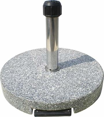Primaster TrendLine Granit Sonnenschirmständer mit Rollen Schirmständer grau rund 50 cm - 2