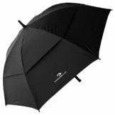 PROCELLA Regenschirm Sturmfest – Golf Schirm mit UV-Schutz für Herren und Damen - Automatisches Öffnen 157 cm - Doppellagig Winddicht Wasserdicht - Extra Groß Stockschirm XXL für Zwei Personen - 1
