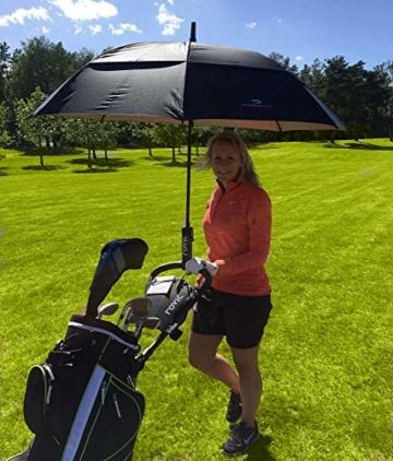 PROCELLA Regenschirm Sturmfest – Golf Schirm mit UV-Schutz für Herren und Damen - Automatisches Öffnen 157 cm - Doppellagig Winddicht Wasserdicht - Extra Groß Stockschirm XXL für Zwei Personen - 4
