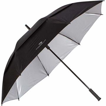 PROCELLA Regenschirm Sturmfest – Golf Schirm mit UV-Schutz für Herren und Damen - Automatisches Öffnen 157 cm - Doppellagig Winddicht Wasserdicht - Extra Groß Stockschirm XXL für Zwei Personen - 5