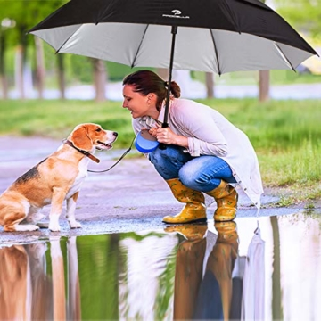 PROCELLA Regenschirm Sturmfest – Golf Schirm mit UV-Schutz für Herren und Damen - Automatisches Öffnen 157 cm - Doppellagig Winddicht Wasserdicht - Extra Groß Stockschirm XXL für Zwei Personen - 8