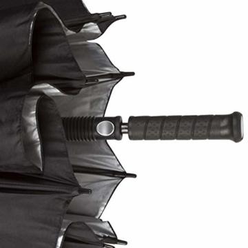 PROCELLA Regenschirm Sturmfest – Golf Schirm mit UV-Schutz für Herren und Damen - Automatisches Öffnen 157 cm - Doppellagig Winddicht Wasserdicht - Extra Groß Stockschirm XXL für Zwei Personen - 9