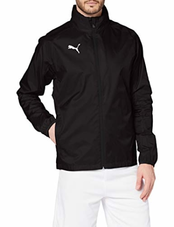 PUMA Herren LIGA Training Rain Jacket Core Black White, XL - 1