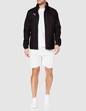 PUMA Herren LIGA Training Rain Jacket Core Black White, XL - 4