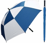 RainStoppers Windbuster Golfschirm 152,4 cm, Royal/Weiß, 60-Inch - 1