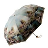 Regenschirm Doppel-Sonnenschirm Vinyl Sonnenschutz UV-Schutz Sonnenschirm Faltschirm Female Dual-Use Forest a - 1