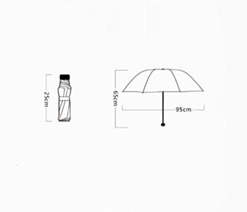 Regenschirm Kreative Doppelsonnenschirm Schwarz Regenschirm Sonnenschutz UV Regen und Regen Dual Use D - 2