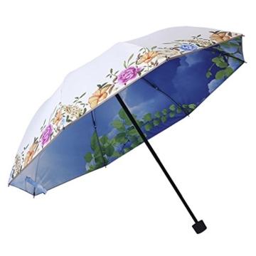 Regenschirm Kreative Doppelsonnenschirm Schwarz Regenschirm Sonnenschutz UV Regen und Regen Dual Use D - 1