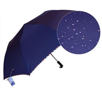 Regenschirm Sonnenschirm Vollautomatischer Faltschirm Doppelsonnenschirm zur Erhöhung des Anti-UV-Regenschirms a - 4