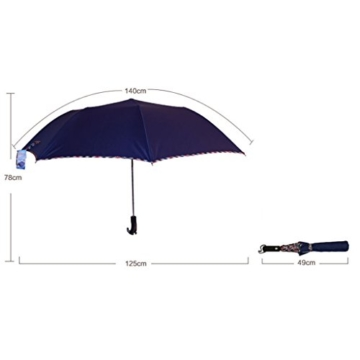 Regenschirm Sonnenschirm Vollautomatischer Faltschirm Doppelsonnenschirm zur Erhöhung des Anti-UV-Regenschirms a - 5