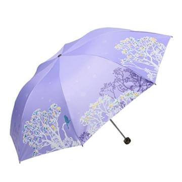 Regenschirm Sonnenschutz UV Regenschirme Frische Sonne Regenschirm Frauen Faltbarer Doppelsonnenschirm a - 1